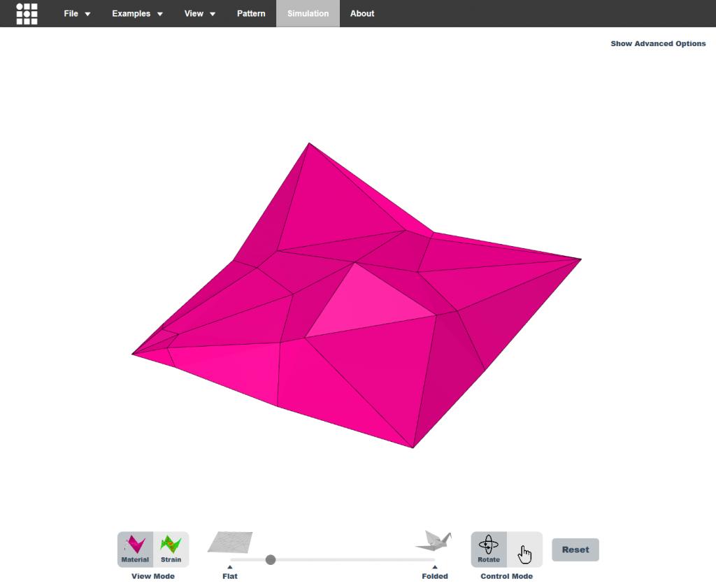 simlateur origami