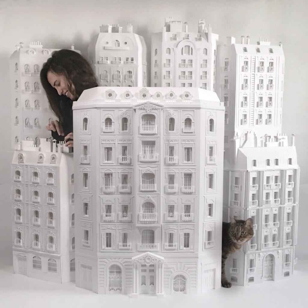 haussmannien sculptures papier