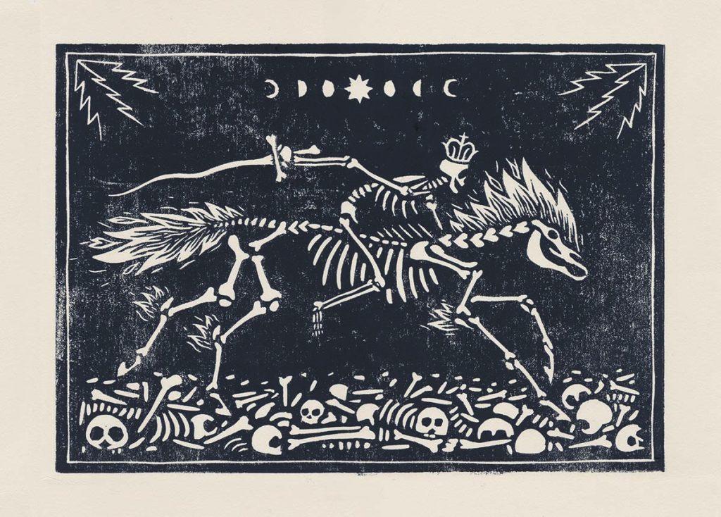 Linogravure Galerie Apocalypse Finale