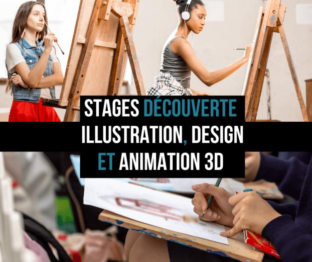 stages dcouverte illustration concept art et animation 3d